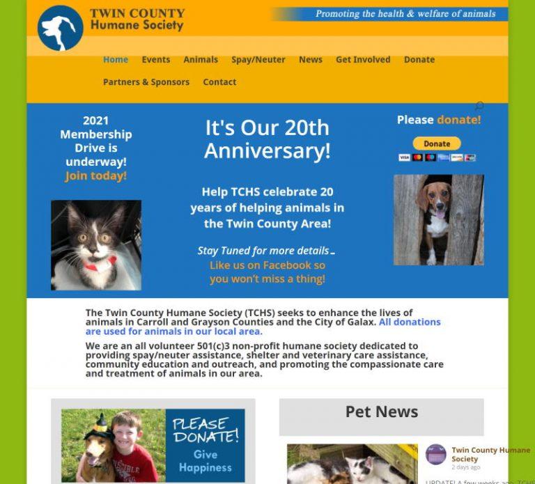 screenshot for Twin County Humane Society